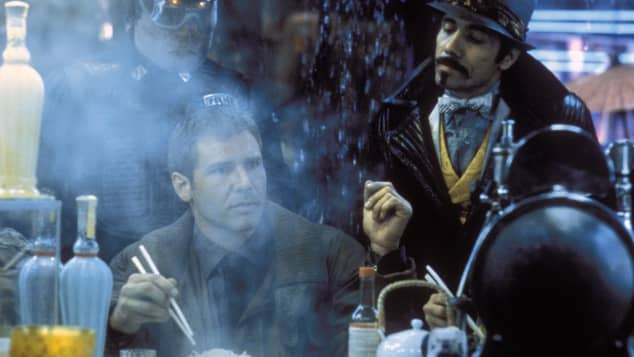 "Edward James Olmos in the 1982 film, ""Blade Runner"""