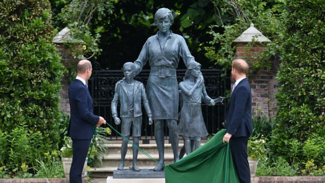Prince William, Prince Harry and Princess Diana Statue