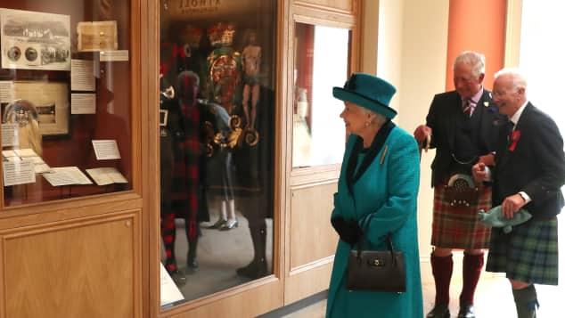 Queen Elizabeth II at the Duke of Rothesay Highland Games Pavilion