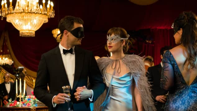 "Jamie Dornan and Dakota Johnson in ""50 Shades of Grey"""