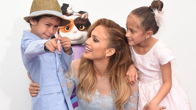 Jennifer Lopez, Maximilian David Muniz y Emme Maribel Muniz