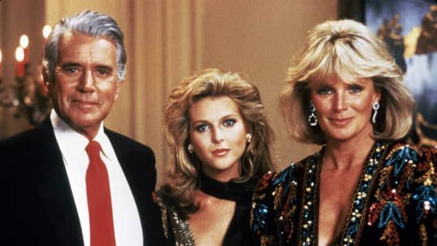 John Forsythe, Catherine Oxenberg, Linda Evans in Dynasty
