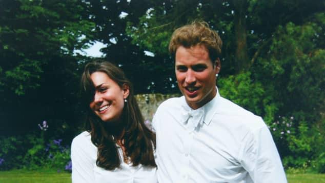 Kate Middleton Prince William at St. Andrews University.