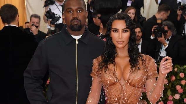 Imagen de Kim Kardashian en lágrimas después de reencuentro con Kanye West