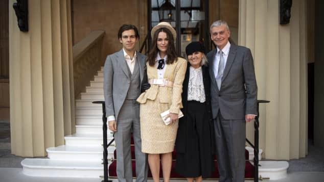 Keira Knightley and Family OBE Award