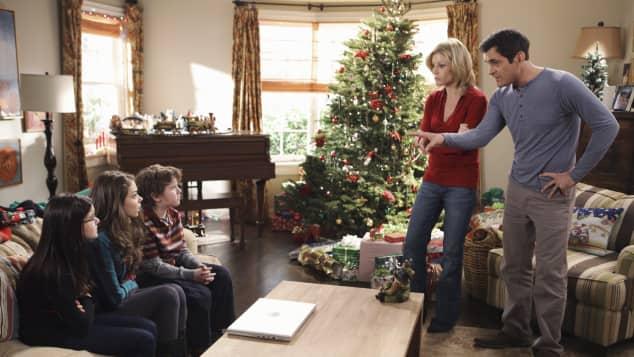 Navidad familiar moderna