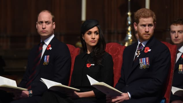 Prince William, Prince Harry and Duchess Meghan