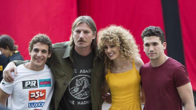 "Miguel Herran, Luka Peros, Esther Acebo, and Jaime Lorente are part of ""Money Heist"""