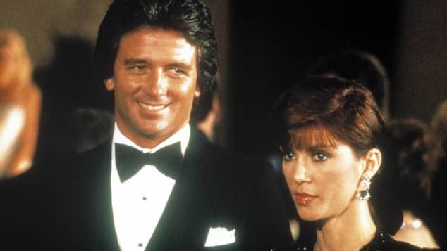"""Patrick Duffy and Victoria Principal in """"Dallas"""""""