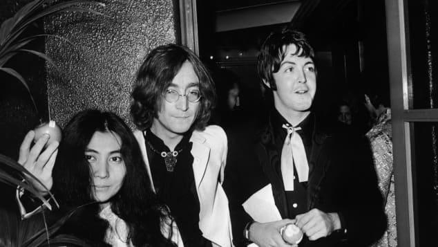 Paul McCartney, John Lennon y Yoko Ono