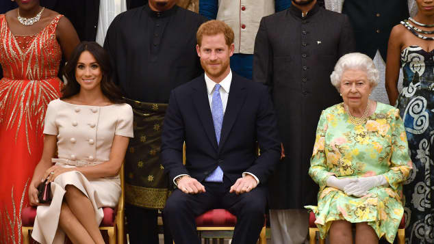 Duchess Meghan, Prince Harry and The Queen