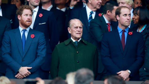 Prince Harry, Prince Philip and Prince William