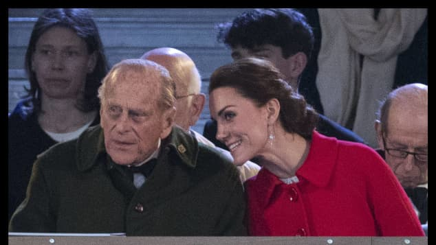 """Prince Philip and Duchess Catherine Kate Middleton """"A Bit Like Prince Philip"""" Similarity"""