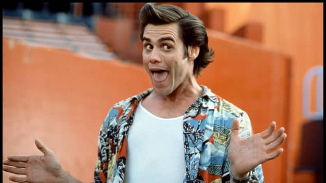 """Jim Carrey is known for his role as """"Ace Ventura"""" in 1994's 'Ace Ventura: Pet Detective'."""