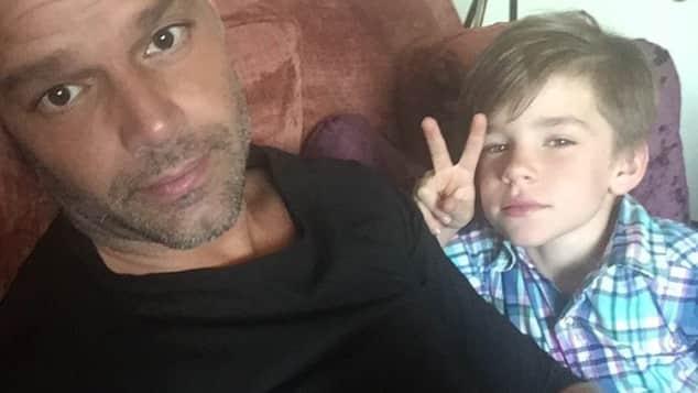 Ricky Martin y sus hijos