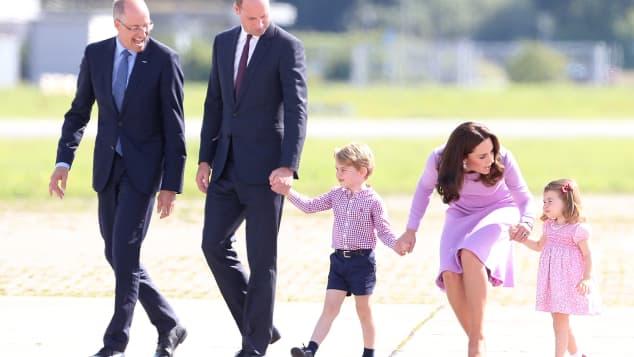 Prince George, Princess Charlotte, Duchess Catherine and Prince William