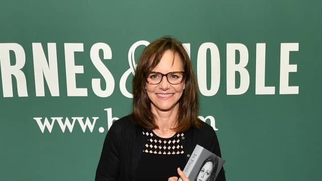 """Sally Field with her new book """"In Pieces"""""""