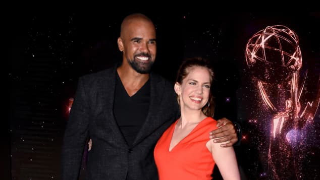 Shemar Moore and Anna Chlumsky at the announcement of the 2017 Emmy nominees.
