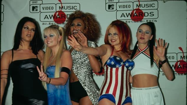 Melanie Brown, Victoria Beckham, Melanie Chisholm, Geri Halliwell and Emma Bunton