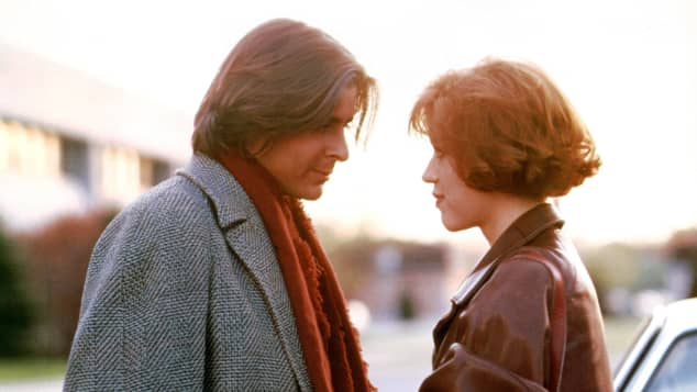 Judd Nelson and Molly Ringwald in 'The Breakfast Club'