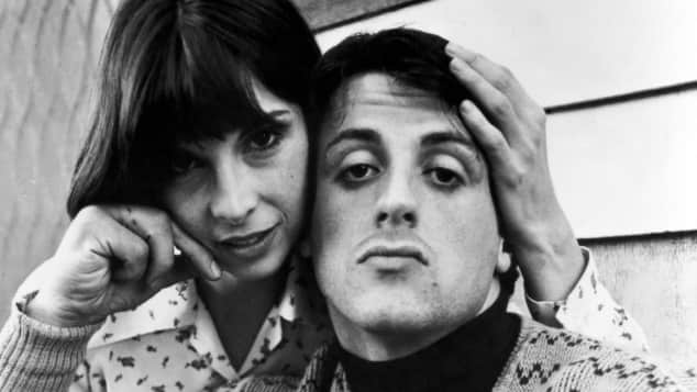 """Talia Shire and Sylvester Stallone in """"Rocky"""""""