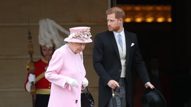 Queen Elizabeth II and Prince Harry