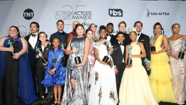 The Cast of This Is Us at the Screen Actors Guild Awards