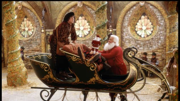 Santa and his head elf in The Santa Clause