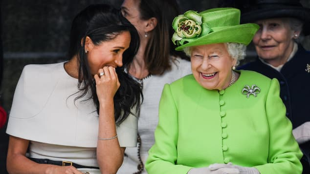 Duchess Meghan and Queen Elizabeth II