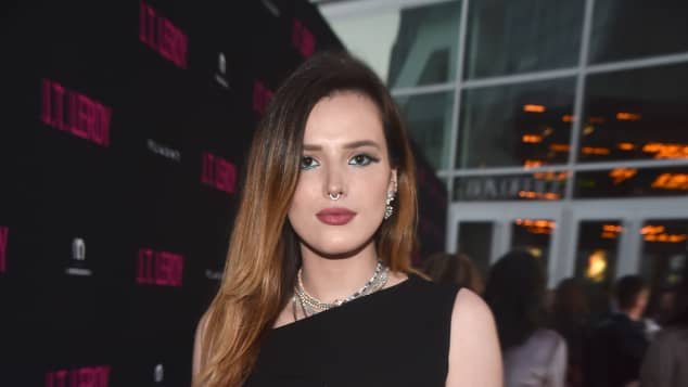 Bella Thorne poses on the red carpet in 2019