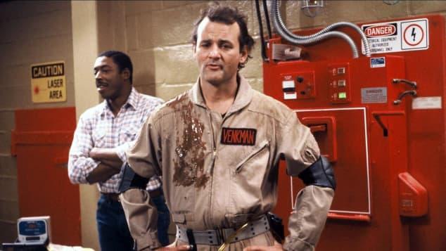 Bill Murray in Ghostbusters in 1984