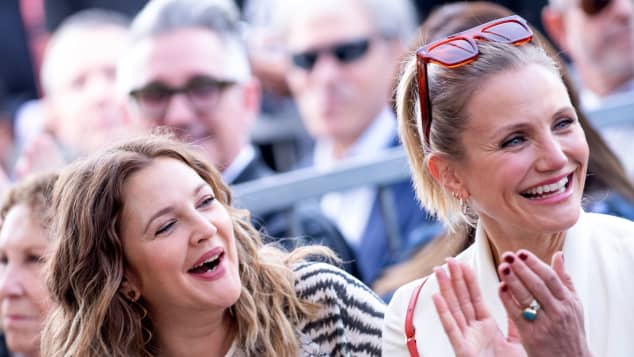 Drew Barrymore and Cameron Diaz attend Lucy Liu's Walk of Fame ceremony in Hollywood on May 1, 2019.