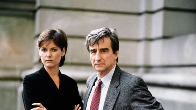 Carey Lowell and Sam Waterston
