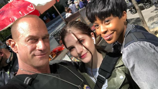 Christopher Meloni, Ainsley Seiger y Danielle Moné Truitt
