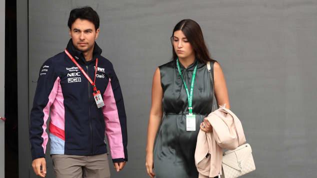 Checo Pérez y Carola Martínez