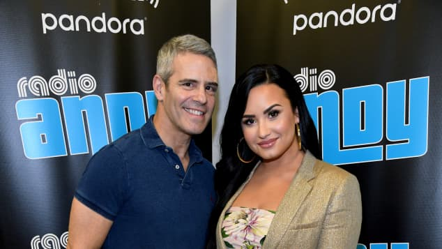 Demi Lovato and Andy Cohen