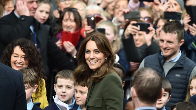 Catherine, Duchess of Cambridge pictured on the third day of first official visit to Ireland on March 5, 2020 in Galway, Ireland