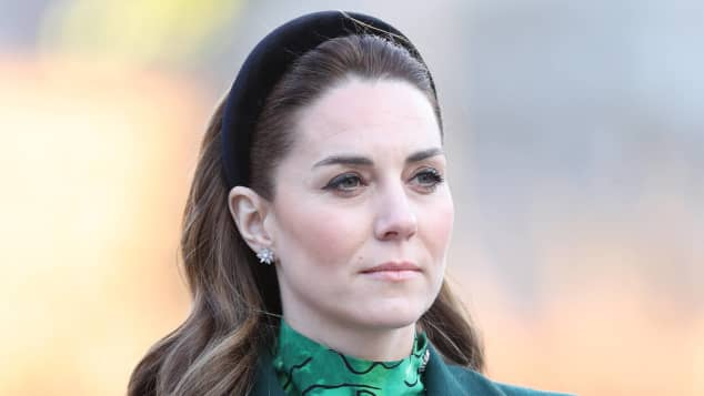 Duquesa Catalina en la ceremonia de colocación de la corona.