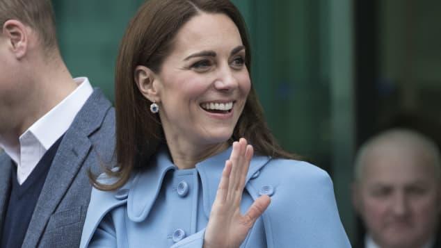 Catherine Duchess of Cambridge in Ballymena in Northern Ireland