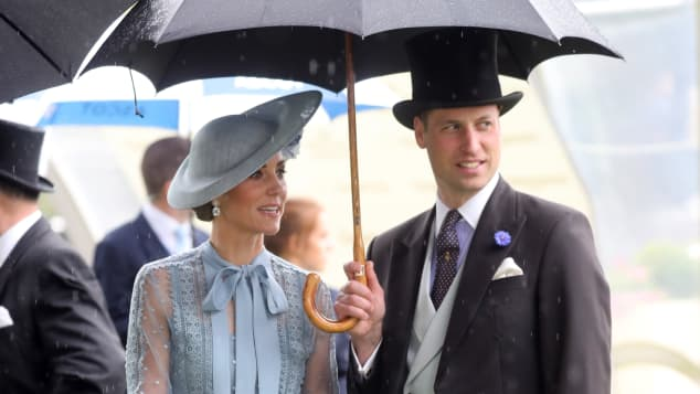 Duchess Catherine Prince William Royal Ascot 2019 Umbrella