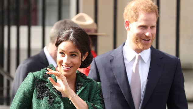 Duchess Meghan and Prince Harry on Commonwealth Day at the Canada House in London