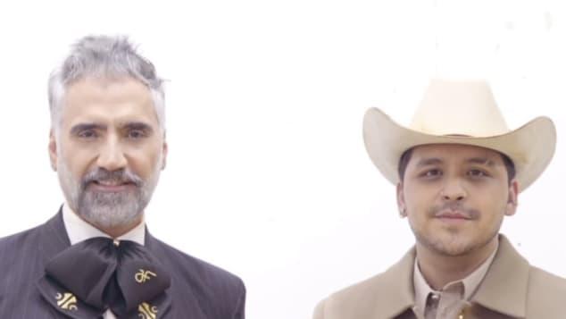 Alejandro Fernández y Christian Nodal
