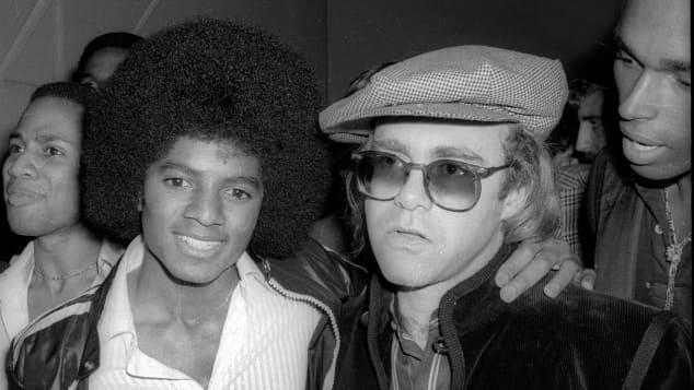 Michael Jackson y Elton John