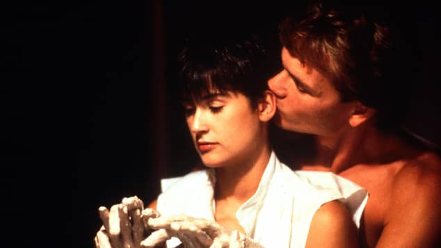 Demi Moore and Patrick Swayze in 'Ghost'