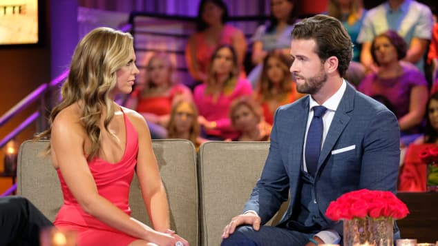 Hannah Brown and Jed Wyatt on The Bachelorette Finale
