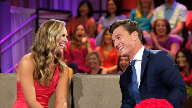 Hannah Brown and Tyler Cameron on The Bachelorette Finale