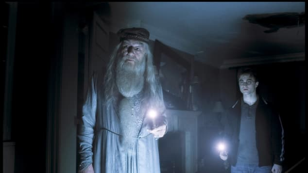 """Michael Gambon and Daniel Radcliffe in """"Harry Potter and the Half-Blood Prince"""""""