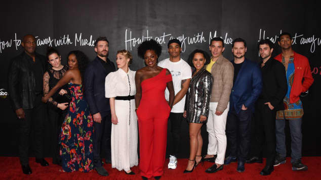 The cast of 'How to Get Away with Murder' at the show's series finale event on February 8, 2020.