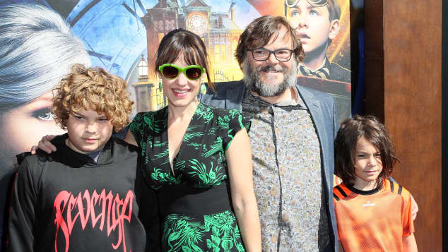 Jack Black y familia