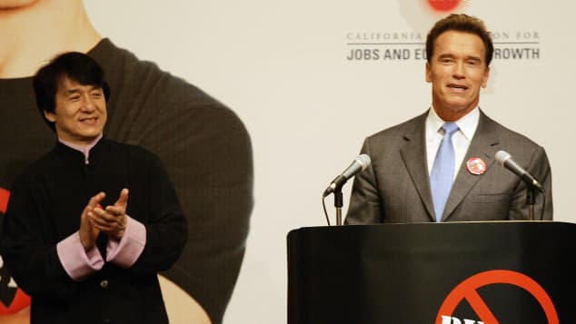 Jackie Chan and Arnold Schwarzenegger